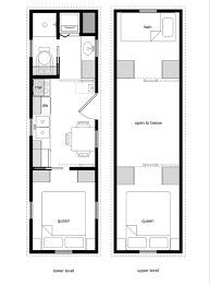 tiny house floor plans. Tiny House Floor Plans With Lower Level Beds