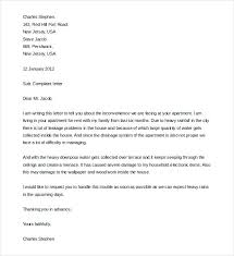 Formal Complaint Letter To Landlord Template Free Word Documents