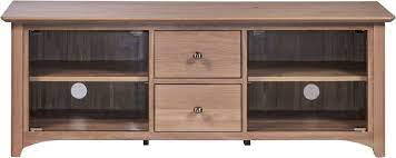 toulouse oak large tv unit with glass