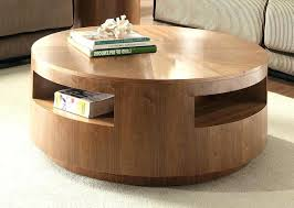 fashionable round coffee table with storage wood