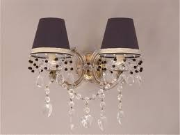 vintage marie therese wall lights with love heart crystal drops