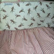 sock monkey bedding crib per skirt cotton baby set