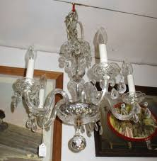 hanging crystal chandelier 5 arms newly wired