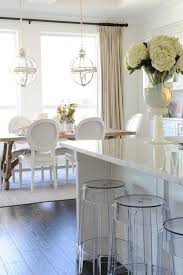 get the look casper bar stool lucite acrylic seating looks crisp and modern under the counter in an all white open concept kitchen