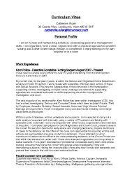 Outstanding Criminal Investigator Curriculum Vitae Gallery