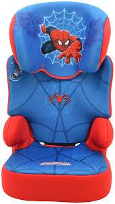 tt marvel spiderman groups 2 3 blue booster car seat