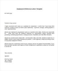 Sample Employment Letters Of Recommendation Letter Of Recommendation Sample Employee Calmlife091018 Com