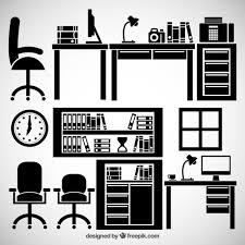 free office furniture. Office Furniture Free Vector