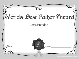printable certificates and awards to include in your gift basket best father award b w
