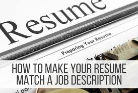 How To Make Your Resume Match A Job Description Punched Clocks Beauteous How To Tailor A Resume To A Job