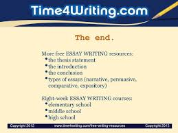 writing a comparative essay ppt video online  the end more essay writing resources the thesis statement