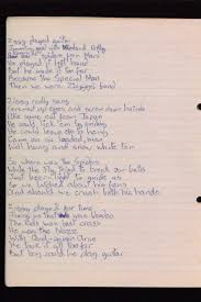 best ideas about hand written handwriting fonts hand written ziggy stardust lyrics by david bowie this makes me cry< i need this so bad