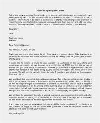 Event Sponsorship Letter Classy Event Sponsorship Ideas Free Download Letter Requesting Donations