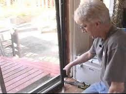 replacing sliding glass doors removing