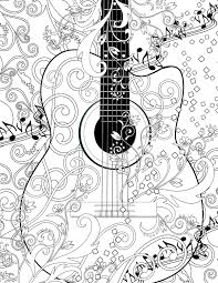 Coloring Poster Printable Music Coloring Poster Instant Download
