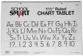 Smart Chart School Smart Chart Tablet 24 X 16 Inches 1 1 2 Inch Skip Line 25 Sheets