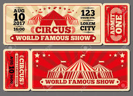 Show Ticket Template Circus Magic Show Entrance Vector Tickets Templates Ticket For