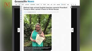 Corrected Letter Retired Teacher Corrects Letter From President Trump Sends It Back