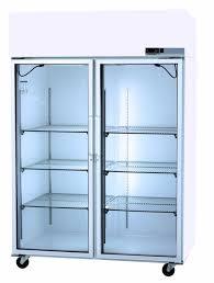 glass door scientific refrigerator