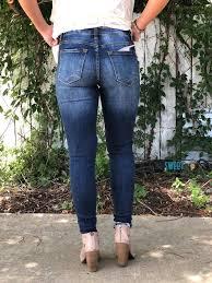 Kancan Jeans Size Chart Kancan Dark Wash Premium Distressed Skinny Jeans Sweet Bee