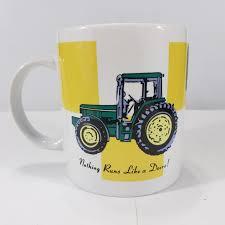 Vintage john deere service coffee mug cup 1882 trademark go with green tractor. John Deere Mug Coffee Tea Cup Nothing Runs Like A Depop