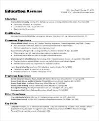 School Teacher Resume Format In Word Unique Teacher Resumes 48 Free Word PDF Documents Download Free