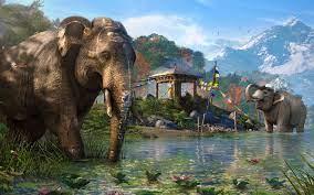 lake, wildlife, jungle, Far Cry 4 ...