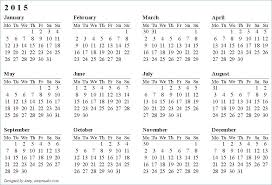 Free Printable Calendars And Planners 2015 Calendar Template