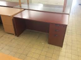 30x60x29 cherry wood desk w right pedestal
