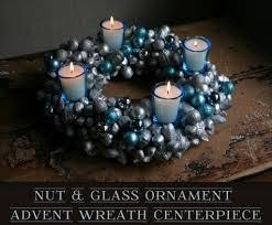 Advent Wreath Decorations Nut Glass Ornament Advent Wreath Centerpiece Featuring Camilla