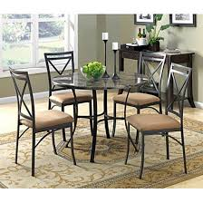 dining table set 5 pc with chairs for 4 person kitchen round vine funriture diningtableset5pc contemporary