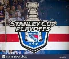stanley logo 2016. 21st apr, 2016. the new york rangers 2016 stanley cup logo appears on a banner prior to game four of national hockey league eastern conference first