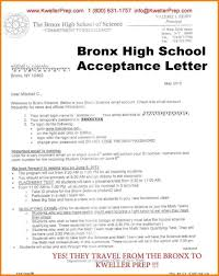 School Acceptance Letter Sample | Doctemplates123