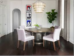 modern round dining room table. Industrial Modern Round Dining Table With Upholstered Chairs Room