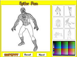 Small Picture Spiderman Coloring Pages For Kids Spiderman Coloring Pages Games
