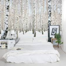 Wallpaper To Decorate Room A Winter Wonderland Right In Your Home Winter Birch Trees Wall