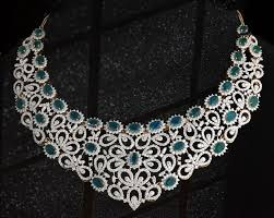 bridal necklace designs indian kalyan jewellery diamond