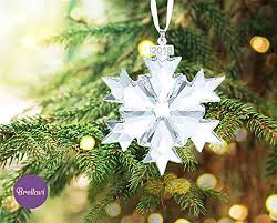 Annual Ornaments Brellavi Christmas Ornaments 2018 Clear Crystal Annual Ornament