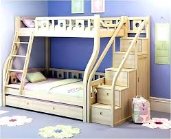 bunk bed with stairs. Wooden Bunk Beds With Storage Loft Bed Stairs Double Steps White Wood Drawer S #