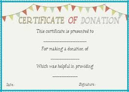 Donation Certificate Template Custom Donation In Memory Of Certificate Template Unofficialdb