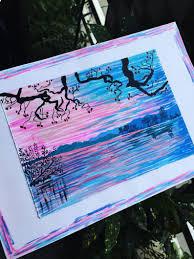 Ozean Kunst Ozean Malerei Malerei Ruhig Striche Malen Etsy