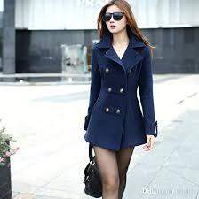long winter jacket women new wool coat double ted coats las blue red camel woollen warmest