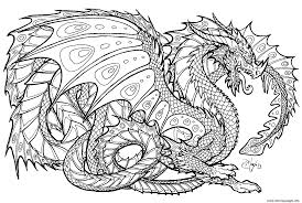 Print Realistic Dragon Chinese Dragon Coloring Pages Adult