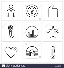 Mercury Chart Recorders Set Of 9 Simple Editable Icons Such As Mercury Thermometer