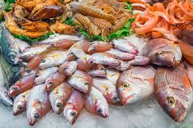 Tasty Fish And Seafood For Sale At A ...