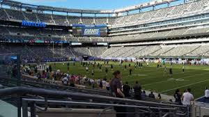 Giants Stadium Football Seating Chart Metlife Stadium Section 133 Home Of New York Jets New