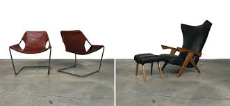 Paulistano Leather Arm Chair And Pau Ferra Arm Chair At Modern Resale Los  Angeles