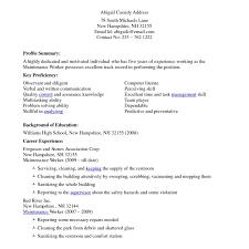 House Cleaning Resume Sample Great Sample Cleaning Resume Templates Gallery Entry Level 52