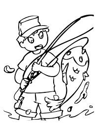 Small Picture Fishing Coloring Page Handipoints
