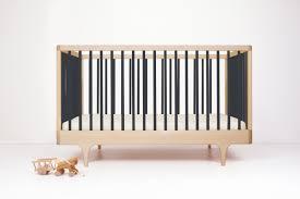 caravan crib  modern solid wood convertible crib  kalon studios us